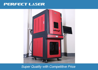 Vertical Full Closed Laser Marking Machine With Air Cooling System , Higher Accuracy