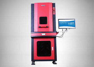 20W Full Enclosed Cabinet Laser Marking Machine For Metal / Non - Metallic Materials