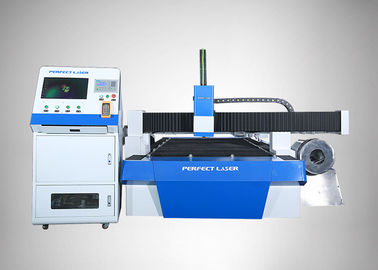 China 90  /min Fiber Laser Cutting Machine For Round Metal Pipe / Sheet Cutting,blue supplier