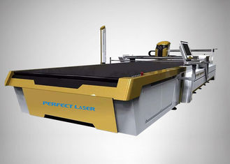 China Customized CO2 Laser Cutter Automatic Fabric Cutting 3300*1700 With Vacuum Table supplier