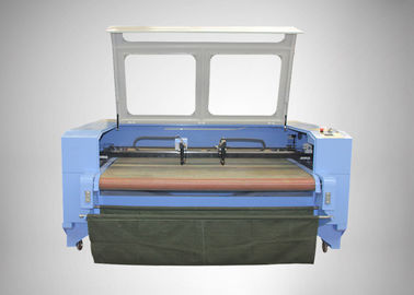 China 150W CO2 Laser Engraving Machine For Autocar Seat Cover 1600mm * 1000mm distributor