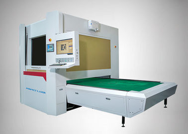 China Full Protection Galvanometer Scanning Co2 Laser Engraver 500W For Jeans / Denim factory