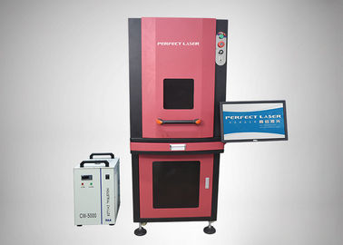 China Working Format Optional UV Laser Marker Machine Fireproof With Closed Cabinet factory