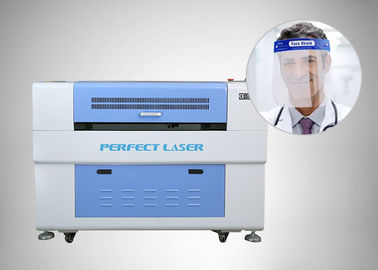 China High-Accuracy Protective Face Shield PC / PET Sheet Laser Engraving and Cutting Machine distributor